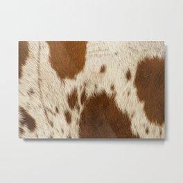 Pattern of a Longhorn bull cowhide. Metal Print