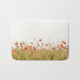 Poppies Coquelicots Bath Mat