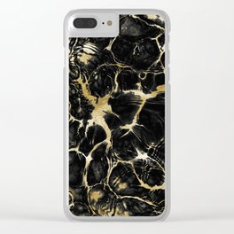Undefined Gold Black Abstract #1 #decor #art #society6 Clear iPhone Case