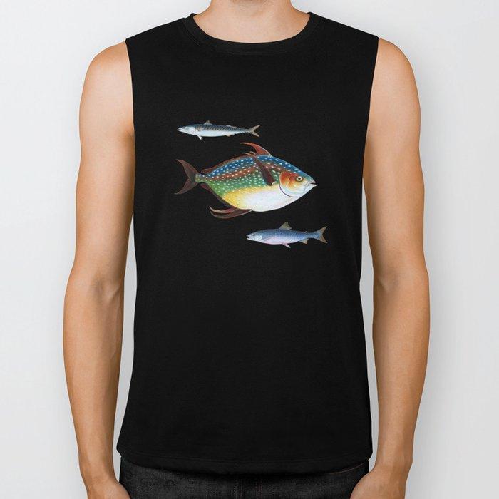 Into the Deep, Ocean Swimming Fish Biker Tank