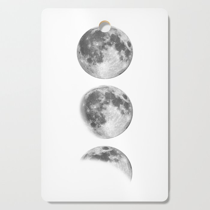 Full Moon cycle black-white photography print new lunar eclipse poster bedroom home wall decor Cutting Board