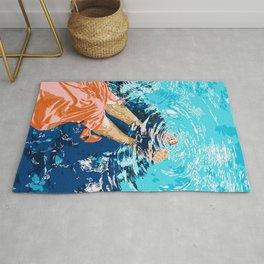 Take Me Where The Waves Kiss My Feet #painting Rug