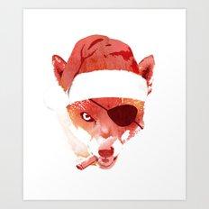 Bad Santa Fox Art Print