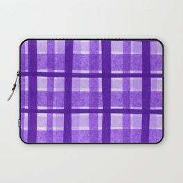 Tissue Paper Plaid - Purple Laptop Sleeve