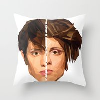 tegan and sara Throw Pillows featuring TEGAN AND SARA by MGNFQ