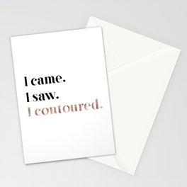Rose gold beauty - I came, I saw, I contoured Stationery Cards