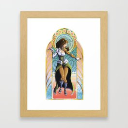 The Lady Framed Art Print