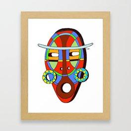 Indian's mask Framed Art Print