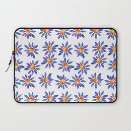 Purple Daisy pattern by Adam Cooley Laptop Sleeve