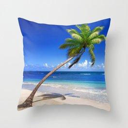 Vacation Dominican Republic Throw Pillow