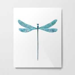 Dragonfly, watercolor Metal Print