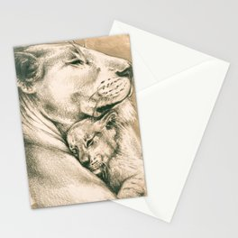 Lioness And The Cub Stationery Cards