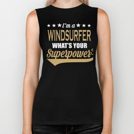 Windsurfer Superpower Cool Saying Gift Biker Tank