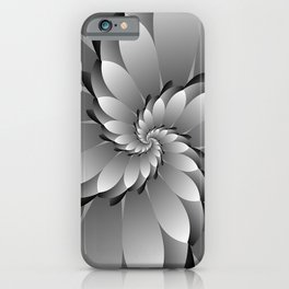 3D Black & Grey Spiral Art iPhone Case