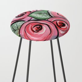 Roses for my Valentine Counter Stool