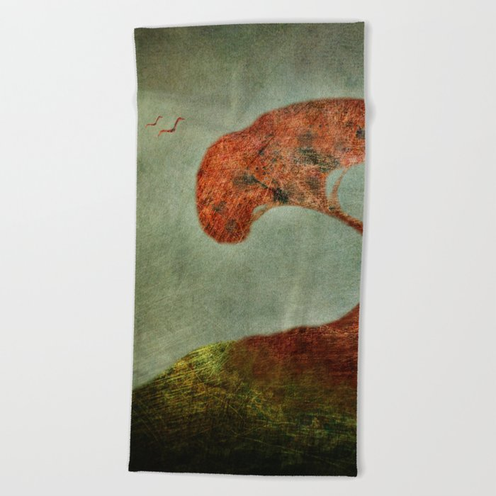 Fragile Flight Beach Towel