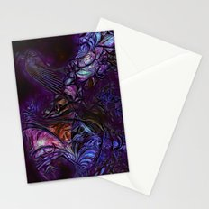 Bird of Paradise in Deep Purple Stationery Cards