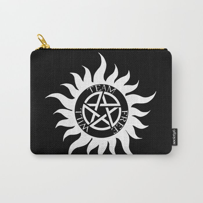Team Free Will Anti Possession Symbol Supernatural White Carry
