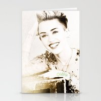 miley cyrus Stationery Cards featuring Miley Cyrus by Ylenia Pizzetti