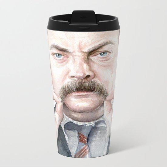 Swanson Mustache Metal Travel Mug