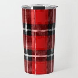 Red + Black Plaid Travel Mug