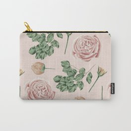Flower Shop Roses on Blush Pink Carry-All Pouch