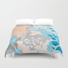 Freya - Painted minimal bright summer palette boho abstract decor minimalist Duvet Cover