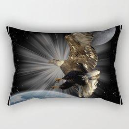 """""""Possibilities"""" Bald Eagle Inspirational Design Rectangular Pillow"""