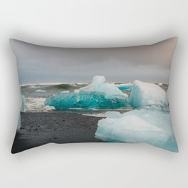 Sunset at the Glacier Lagoon in Iceland Rectangular Pillow