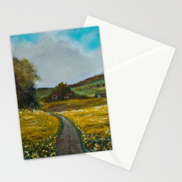Sunflowers field Stationery Cards