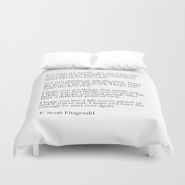 for what it's worth - fitzgerald quote Duvet Cover