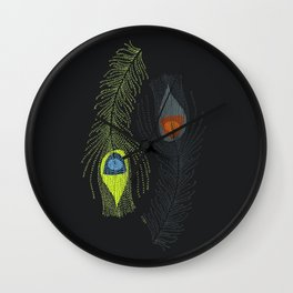 Prancing Peacock Wall Clock