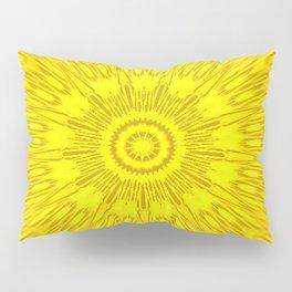 Yellow Mandala Explosion Pillow Sham