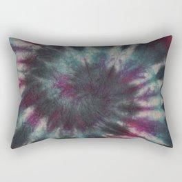 Tie Dye Spiral Black Turquoise Purple Red Rectangular Pillow