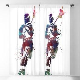 Lacrosse player art 2 Blackout Curtain