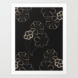 Light Sepia Flower Pattern #1 #drawing #decor #art #society6 Art Print