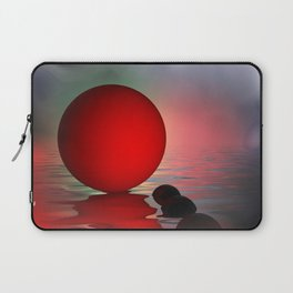 just red - square format Laptop Sleeve