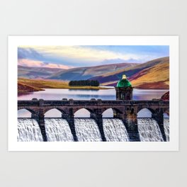 Medieval Dam of the Elan Valley of Wales Art Print