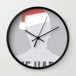 Die Hard Minimalist Poster Wall Clock