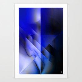 Blue Moon Crest Art Print