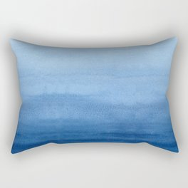 Blue Watercolor Ombré Rectangular Pillow