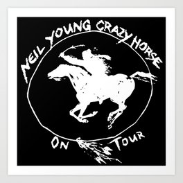 neil young crazy horse on tour black nitrogen Art Print