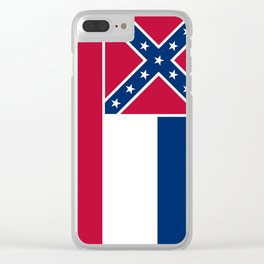 State Flag of Mississippi Clear iPhone Case