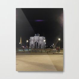 Raining in Paris Metal Print