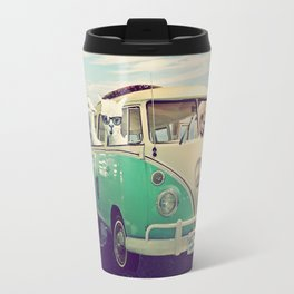 NEVER STOP EXPLORING THE BEACH Travel Mug