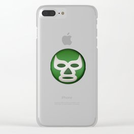 Mexican Wrestling Mask Lucha Libre design for Wrestling Fans Clear iPhone Case