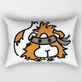 The Masked Guinea Pig Rectangular Pillow