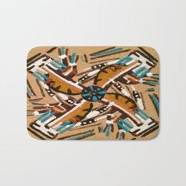 Indian Windmill design Bath Mat