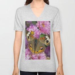Common Buckeye Butterfly Unisex V-Neck