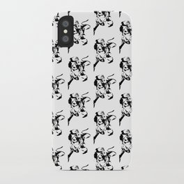 Follow the Herd All Over Black #819 iPhone Case